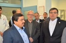 "In the presence of ""Deputy Minister"" of the Ministry of Health and Medical Education, Dr. Ziaee unveiled the memorial plaque of ""Iranian hospital Conventional Center"""